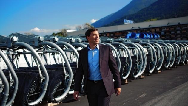 Anton Seeber, Präsident der 3500 Mitarbeiter umfassenden Leitner-Gruppe, hat erstmals in der Unternehmensgeschichte die Milliarden-Umsatz-Marke geknackt. (Bild: Leitner)