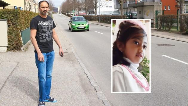 Vater Sarfaraz A. (44) und seine Familie bangen schon seit mehr als einer Woche um Arwas (7) Leben (Bild: Helmut Klein)