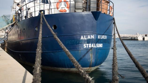 Das Rettungsschiff Alan Kurdi der deutschen Hilfsorganisation Sea-Eye (Bild: AFP)