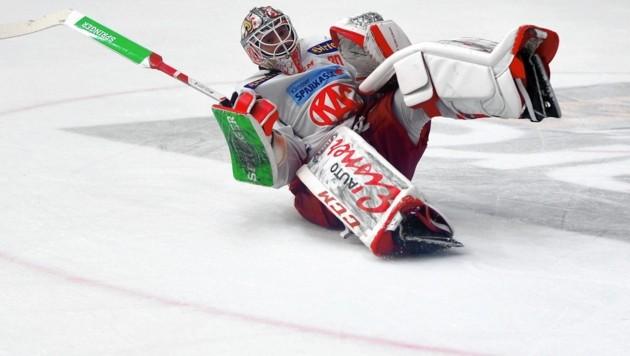 KAC-Goalie Lars Haugen hat derzeit viel zu feiern. (Bild: F. Pessentheiner, pessentheiner)