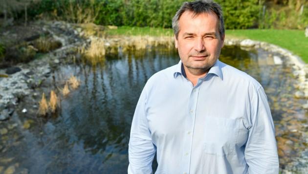 Wolfgang Meier ist Gärtnermeister. Vor 25 Jahren machte sich der Alkovener selbstständig. (Bild: Harald Dostal)