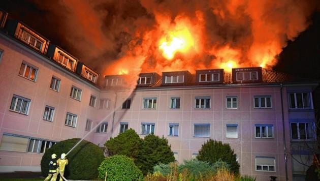 Im November 2018 brannte das Alten- und Pflegewohnheim Weidachhof St. Josef in Schwaz (Bild: zoom.tirol)