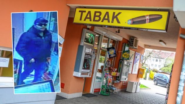 Auf dem Bild der Überwachungskamera ist der Täter gut zu erkennen (Bild: laumat.at/Polizei)