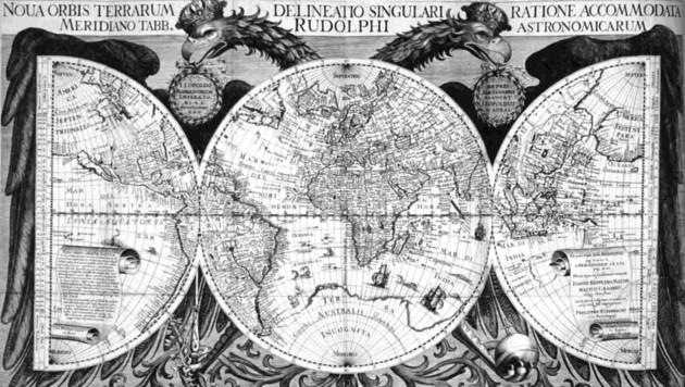Die Weltkarte von Johannes Kepler (Bild: Birbaumer Christof)