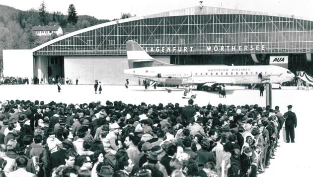 Die AUA setzten immer größere Maschinen ein: Jede Verkehrsaufnahme war damals ein Publikumsspektakel! (Bild: TAÖ/AAvK)