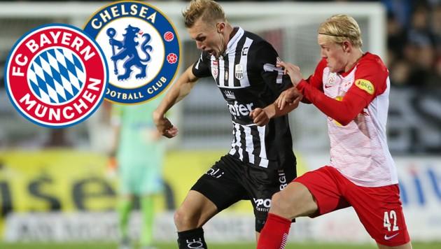 (Bild: GEPA, Bayern München, FC Chelsea)