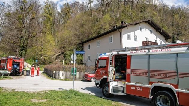 Die Berufsfeuerwehr musste auf den Mönchsberg ausrücken. (Bild: FMT PICTURES)