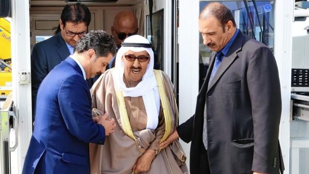 Sabah Al-Ahmad Al- Jaber Al-Sabah, der Emir von Kuwait, ist in Salzburg (Bild: AP)