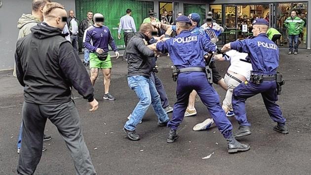 Bei Prügeleien werden Polizisten immer wieder bespuckt. (Bild: ZVG)