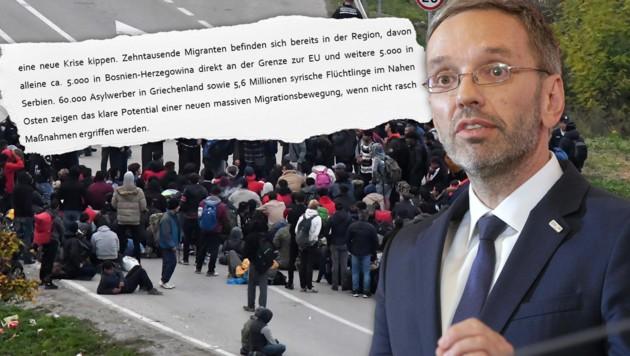 """Kickl warnt Brüssel: """"70.000 wollen kommen!"""""""