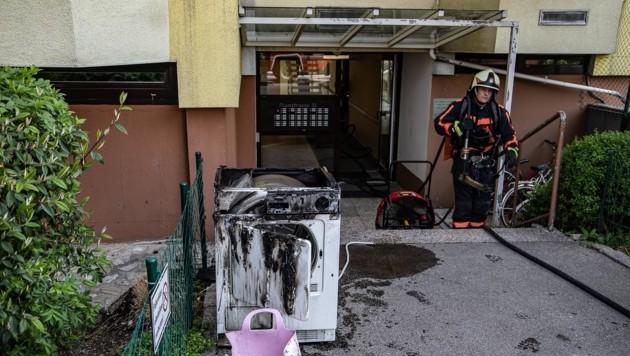 Dieser Wäschetrockner verursachte den Brand. (Bild: FMT PICTURES)