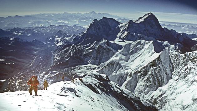 Everest Südostgrat auf 8600 Metern. IMAX-Film-Expedition 1996. (Bild: Robert Schauer)