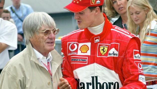 Bernie Ecclestone und Michael Schumacher im Jahr 2002 (Bild: GEPA)