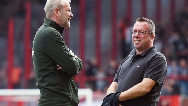 Markus Kauczinski (re.) und Uwe Stöver (Bild: twitter.com)