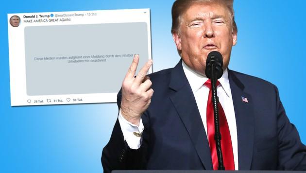 (Bild: APA/AFP, twitter.com/realdonaldtrump, krone.at-Grafik)