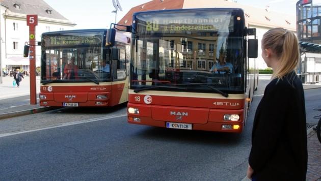 Die Abendverbindungen in Klagenfurt sollen eingeschränkt werden. (Bild: Uta Rojsek-Wiedergut)