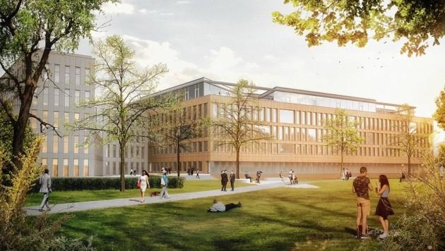 So wird das Gebäude Metahof V aussehen (Bild: Bauwerk Projektentwicklung GmbH)