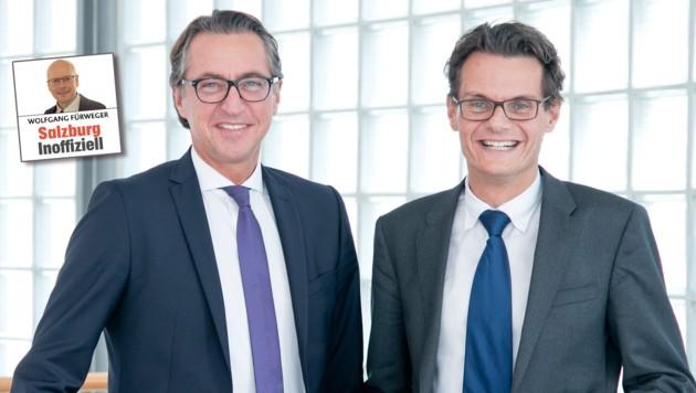 Für Leonhard Schitter und Horst Ebner wird die Obuskrise teuer. (Bild: Salzburg AG)