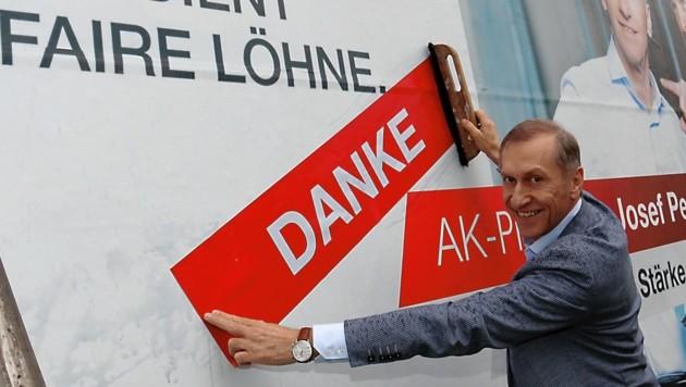 Ein Plus von 6,7 Prozent: Josef Pesserl (SP) bedankt sich für die Untersützung (Bild: Christian Jauschowetz)