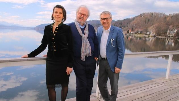 Werzer's-Trio: Hans Werner Frömmel flankiert von Yasmin Stieber-Koptik und Wolfgang Haas (Bild: Conny de Beauclair)