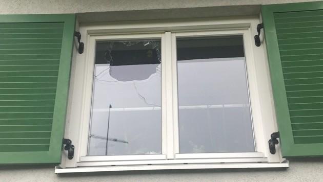 Die Schäden der missglückten Sprengung (Bild: APA/POLIZEI)
