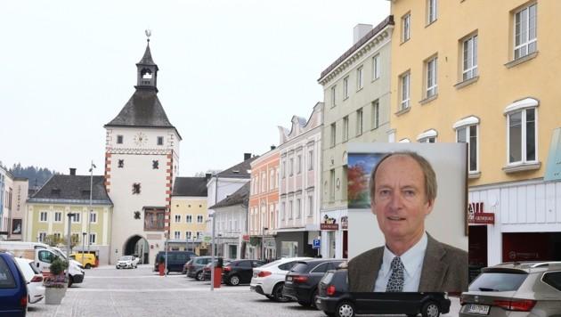 Vöcklabrucks Bürgermeister Herbert Brunsteiner freut sich über viele Ideen für die Innenstadt. (Bild: Helmut Klein (2))