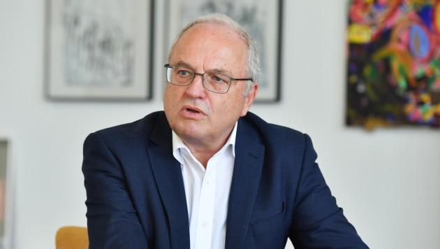 """""""Wir wollen unsere Leute unbedingt an Bord halten"""", betont Rudolf Mark. (Bild: Harald Dostal)"""