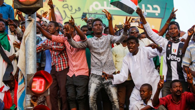 Proteste im Sudan (Bild: AFP)