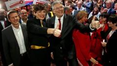 SPÖ-Parteichefin Pamela Rendi-Wagner und Landeshauptmann Peter Kaiser bei einer Veranstaltung im April 2019 (Bild: APA/GERT EGGENBERGER)