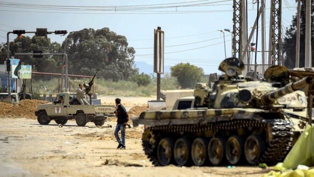 Kämpfe in der libyschen Hauptstadt Tripolis (Bild: AFP)