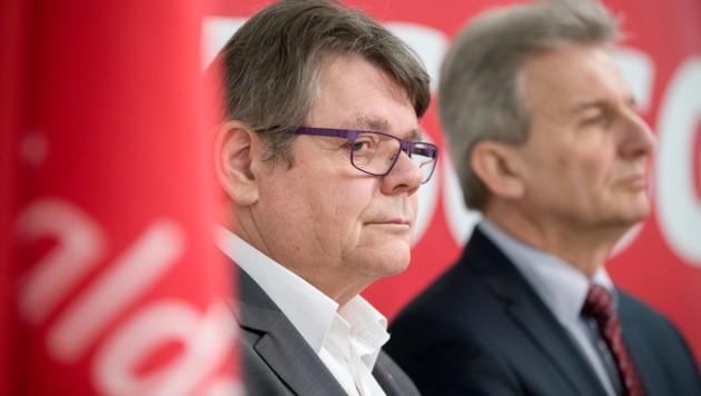 GPA-Vorsitzender Wolfgang Katzian und ÖGB-Präsident bei einer FSG-Veranstaltung (Bild: APA/GEORG HOCHMUTH)