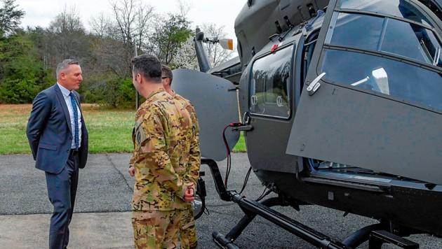 Mehr Know-how über Black Hawks können Österreichs Soldaten bald schon in den Vereinigten Staaten erwerben (Bild: Bundesheer/Pusch, krone.at-Grafik)