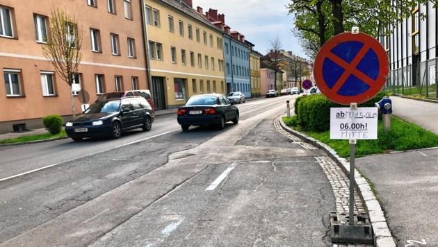 Ab heute wird auch die Florian-Gröger-Straße saniert. (Bild: Rosenzopf Christian)