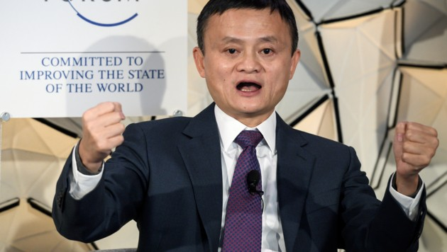 Alibaba-Chef Jack Ma (Bild: APA/AFP/Fabrice Coffrini)