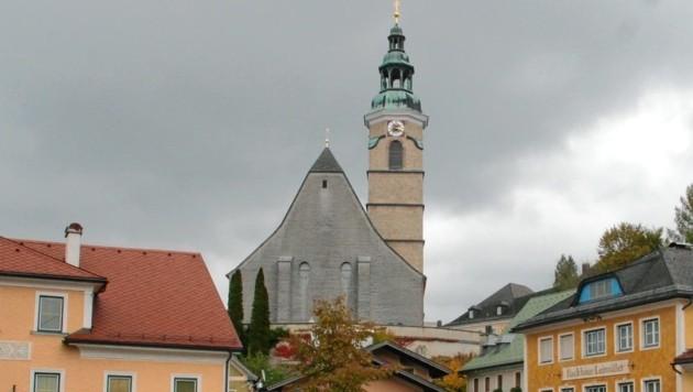 Der Unbekannte ritzte Ornamente in die Kirchenmauer. (Bild: MAISLINGER)