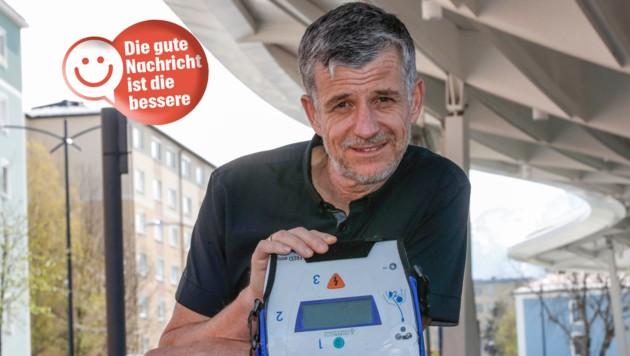 Erich Rattensberger zögerte nicht eine Sekunde und wandte das Erlernte sofort an (Bild: Markus Tschepp)