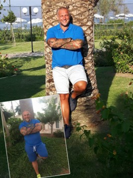 Austrian Rock Franz Müllner hat 30 Kilo abgespeckt - Respekt! Der Baum im Hintergrund hat dafür ordentlich zugelegt (Bild: Müllner)