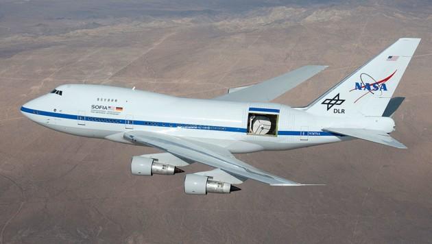Das Infrarot-Observatorium SOFIA in Aktion (Bild: NASA/C. Thomas)
