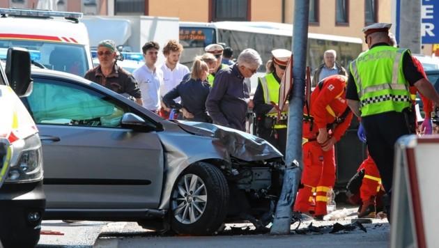 Unfall in Gnigl (Bild: Markus Tschepp)