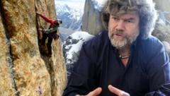 Reinhold Messner äußert sich über das Drama rund um David Lama. (Bild: ots.Bild/Corey Rich, APA/ROLAND SCHLAGER, krone.at-Grafik)