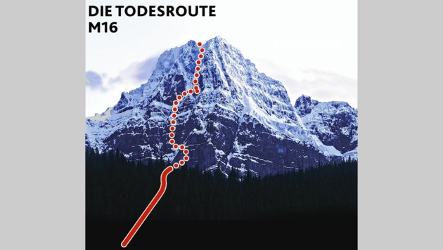 Auf dem Howse Peak kam es bei einer Tour zur Tragödie. (Bild: Krone-Grafik)