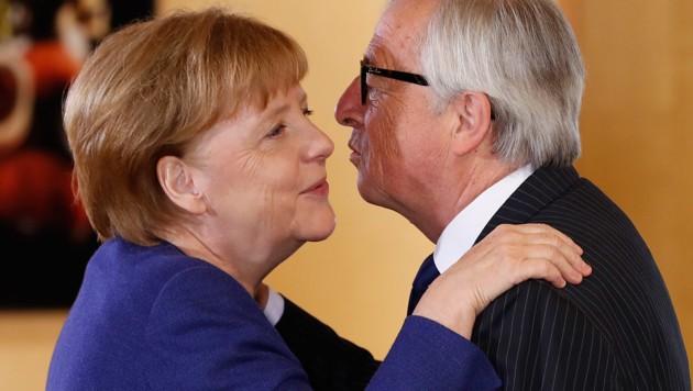 Angela Merkel und Jean-Claude Juncker (Bild: APA/AFP/Yves Herman)