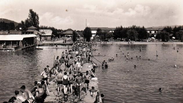 Im Jahr 1924 begann der Ausbau des Klagenfurter Strandbades. (Bild: TAÖ/AAvK)