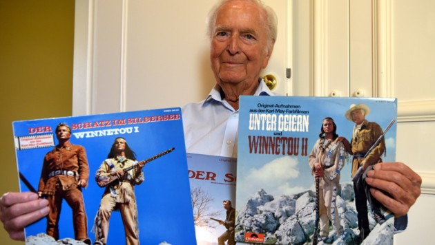 Martin Böttcher komponierte die legendäre Musik aus den Winnetou-Filmen. (Bild: AFP)
