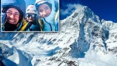 Ein Foto deutet darauf hin, dass das Kletter-Trio vor seinem Tod den Gipfel erreicht hat. (Bild: AFP, The Spokesman-Review, krone.at-Grafik)