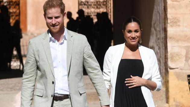 Prinz Harry und Herzogin Meghan während ihrer ersten Schwangerschaft. (Bild: AP)
