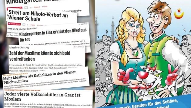 "Die RFJ-Kampagne ""Tradition schlägt Migration"" (Bild: RFJ Steiermark)"