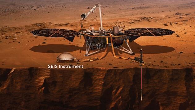"Forscher messen zum ersten Mal ""Marsbeben"""