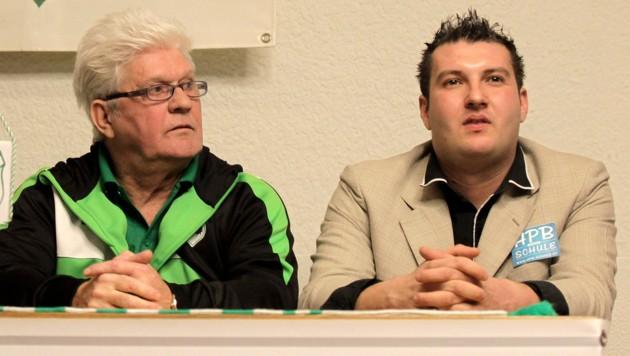 Werner Lorant und David König (Bild: Kronen Zeitung/Andreas Tröster)