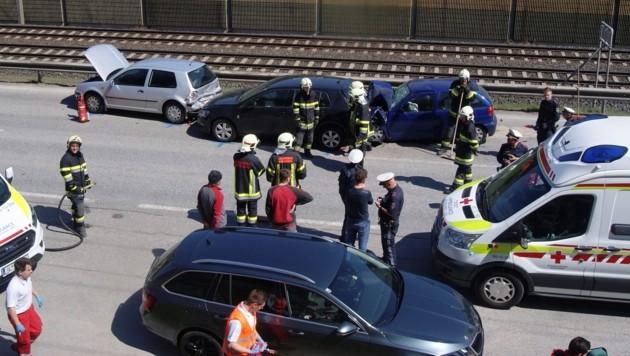 Der Unfall in Mühlbachl (Bild: zeitungsfoto.at)